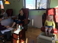 First pedicure, with Aunt Nina!